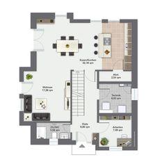 Fertighaus Finkenberg - Erdgeschoss