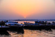 Varanasi, rio Ganges, by Rosa Cera,