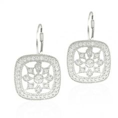 Leverback CZ Micropave Snowflake Earrings Buy Jewellery Online, Circlet, Wholesale Jewelry, Bling Jewelry, Sterling Silver Jewelry, Jewelry Collection, Snowflakes, Wedding Rings, Jewels