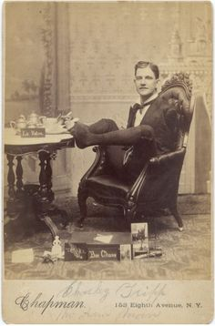 "ca. 1880, [cabinet card, portrait of Charles Tripp, ""Armless Wonder""], Chapman"