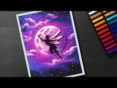 How to draw Fairy Moonlight landscape drawing with soft pastel for beginners step by step How to draw Fairy Moonlight landscape drawing with soft pastel for beginners step by step – YouTu Fairy Drawings, Art Drawings Sketches, Cool Drawings, Oil Pastel Paintings, Oil Pastel Drawings, Fairy Paintings, Drawing Scenery, Soft Pastel Art, Chalk Pastels