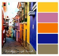 Color Palette bright city Colour Pallette, Color Palate, Color Combos, Color Schemes, Garden Painting, Colour Board, Color Swatches, Room Paint, Exterior Colors