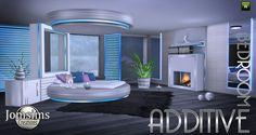 Voici additive Chambre Sims 4.   Un lit rond , Bien Sûr il l'utilise comme un lit normal. Mais je voulais respecter, la ligne original, ...