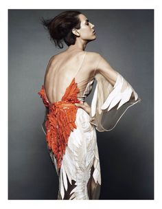 The New Couture by Greg Kadel for Vogue Germany. Aymeline Valade in Givenchy Haute Couture.