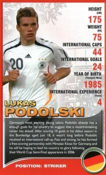 2008 Top Trumps European Football Stars #NNO Lukas Podolski Front