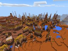 Cool MCPE Bryce Seed (Mesa) - Spawn on the edge of a Mesa Biome with Bryce Mesa formations in this cool seed! Minecraft Pe Seeds, Minecraft Ideas, Google Images, Ocean, Love Drawings, Cover Pages, The Ocean, Sea