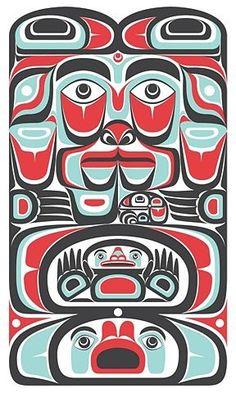NW Coastal Indian Art | Northwest Coast #northwest coast art #traditional art #first nation