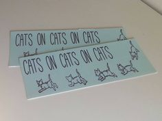 Cats on Cats on Cats Bumper Sticker Cat Lady by DarlingBumpers