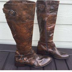 Brown Worn Boots