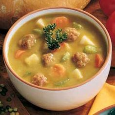 Split Pea Soup with Meatballs Recipe