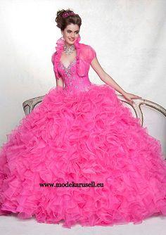 Amerikanisches Ballkleid in Pink  www.modekarusell.eu