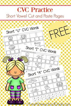 This is a post by Free Homeschool Deals contributo Short Vowel Activities, Literacy Activities, Literacy Centers, Short Vowel Games, English Activities, Reading Centers, Early Literacy, Reading Activities, Short I Worksheets