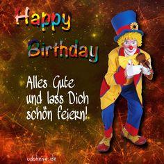 Farbwelten Happy Birthday, Ronald Mcdonald, Fictional Characters, Happy Birthday Quotes, Hand Knitting, Birthdays, Happy Brithday, Urari La Multi Ani