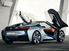 BMW i8 Concept Spyder.    We've seen the future, and it's topless.