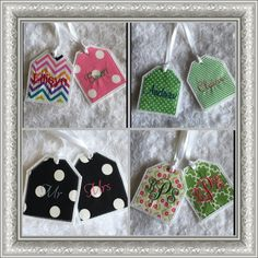 2 Personalized Embroidered Christmas Stocking by MountainElegance   Gift  tags   Pinterest   Embroidered christmas stockings and Xmas