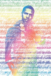 Javari Cameron: Typography Portrait Inspired of the artist J cole the words are song Lyrics from the song 2Face