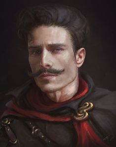 Character Portrait by Tatiana Hordiienko Fantasy Male, High Fantasy, Fantasy Rpg, Medieval Fantasy, Fantasy Portraits, Character Portraits, Fantasy Artwork, Dungeons And Dragons Characters, Dnd Characters