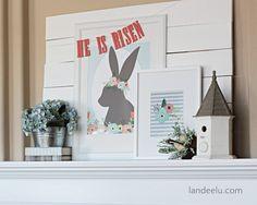 He Is Risen Easter Mantel   landeelu.com