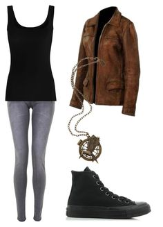 """""""THG #2"""" by fangirlmendes on Polyvore featuring Twenty and Converse"""