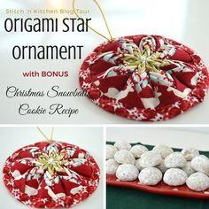 riley blake designs blog stitch n kitchen blog tour origami star ornament christmas