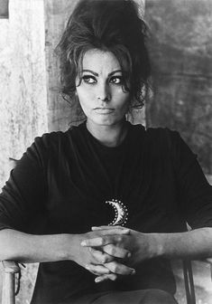 Sophia Loren, 1963, in Spain for the filming of El Cid