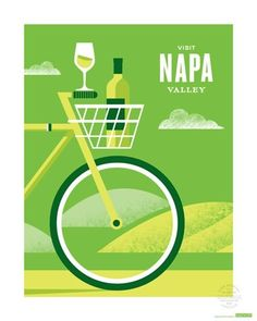 California wine poster: Visit Napa. SFMOMA.