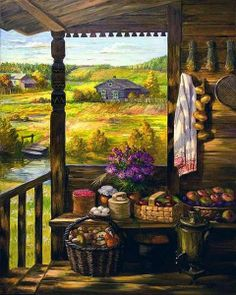 Home Sweet Home ~ Mike Savad Country Art, Country Life, Cottage Art, Country Scenes, Thomas Kinkade, Poster, Oeuvre D'art, Holidays And Events, Pretty Pictures