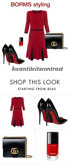 """kwantiteitscontrast"" by cat-line ❤ liked on Polyvore featuring Christian Louboutin and Gucci"