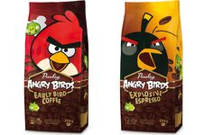 Angry Birds coffee in Finland....my penpals brain might explode. So much Angry birds!