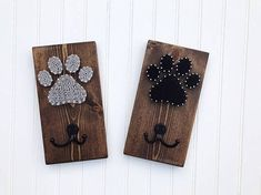 Everything for a walk is in one convenient location. This handmade wooden dog leash holder is perfect for keeping your fur babys belongings organized, each holder has one double coat hook. They are perfect for collars, leashes (including retractable leashes), harnesses, or anything you