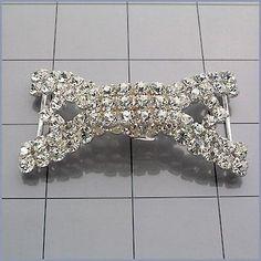 Rhinestone Belt Buckle, Crystal/Silver, N/A, N/A | Dreamtime Creations