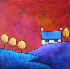 Sky Dance  beautiful acrylic on canvas - many more by Gillian Mowbray