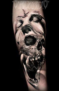 _792.Orlando-Tattoo-teschio-urlo-donna