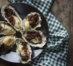 baked oysters with bacon ragout | steph salvatore photography | stephsalvatore.com