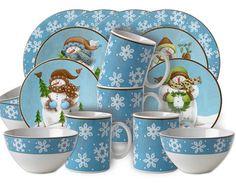 snowman dinnerware  sc 1 st  Pinterest & 16 Piece 222 Fifth LYRIA TEAL Floral Paisley Dinnerware Set NIB ...