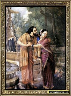 Arjuna and Subhadra-by Raja Ravi Verma