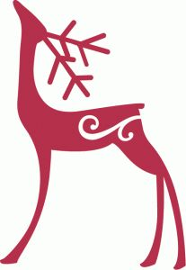 Silhouette Design Store: standing flourish reindeer - this is for sale by artist at this store.