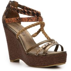 Moda Spana Safara Wedge Sandal - Multi Animal Print found on Polyvore