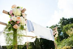 Traditional huppah top // Found on Modern Jewish Wedding Blog // Photographer: Traci J. Brooks Studios