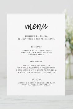 Simple Wedding Menu, Casual Wedding, Simple Weddings, Wedding Tips, Elegant Wedding, Perfect Wedding, Modern Minimalist Wedding, Minimalist Design, Informal Weddings