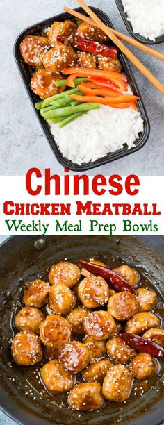 You Have Meals Poisoning More Normally Than You're Thinking That These Juicy,Melt In Mouth Spicy Chinese Chicken Meatballs Cooked In Aromatic Spicy Chinese Sauce In 30 Minutes.Ideal For Weekday Meal Prep Lunch Bowl. Best Meal Prep, Lunch Meal Prep, Meal Prep Bowls, Meal Prep For The Week, Healthy Meal Prep, Healthy Eating, Weekly Meal Prep, Lunch Recipes, Cooking Recipes