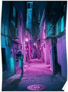 Cyberpunk, Neon And Futuristic Street Photos Of Seoul By Steve Roe Cyberpunk City, Ville Cyberpunk, Cyberpunk Aesthetic, Arte Cyberpunk, Purple Aesthetic, Cyberpunk Fashion, Aesthetic Backgrounds, Aesthetic Wallpapers, Neon Backgrounds