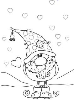 Best 11 Sole's media analytics. Christmas Gnome, Christmas Colors, Christmas Projects, Christmas Art, Christmas Coloring Pages, Coloring Book Pages, Illustration Noel, Christmas Drawing, Digi Stamps