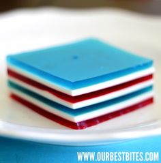 Layered Jell-o (4th of July Edition)