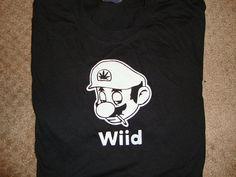 Mario Wiid Funny 420 weed humor T Shirts by absolutefunnytshirts