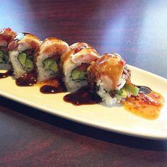 #aburi #hamachi roll.  #sushi # by eddysphoto