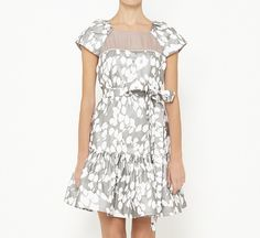 Alexandra Lind for Fiandaca Grey And White Dress