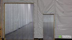Strip Door with Standard Size Door http://www.randallwarehouse.com/