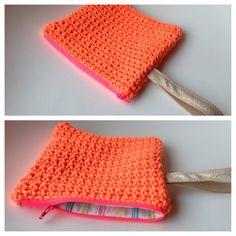 Neon crochet pouch #JeMaMuseCollections #ss13
