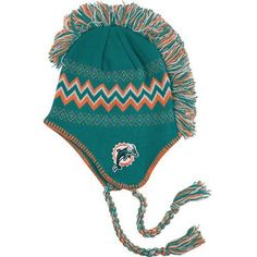 e65f82c08 Miami Dolphins Youth Aqua Nfl Mohawk Tassel Knit Hat by NFL.  19.99.  Prepare for